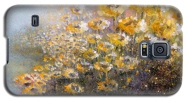 Galaxy S5 Case featuring the painting Sunflowers by Andrew King