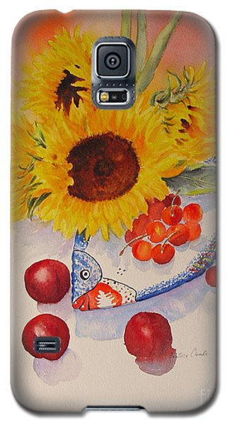 Galaxy S5 Case featuring the painting Sunflowers by Beatrice Cloake