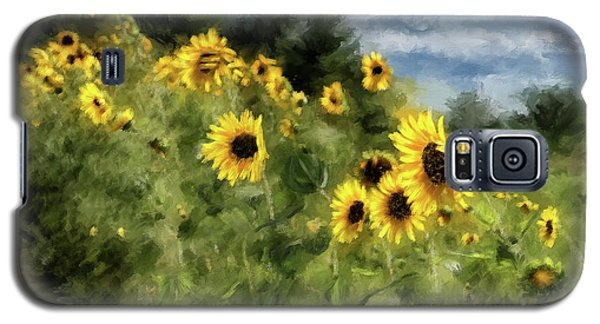 Sunflowers Bowing And Waving Galaxy S5 Case