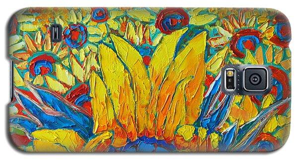 Sunflowers Field In Sunrise Light Galaxy S5 Case
