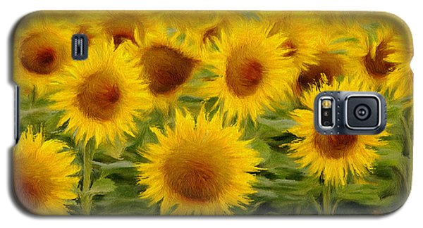 Sunflowers In The Field Galaxy S5 Case by Jeff Kolker