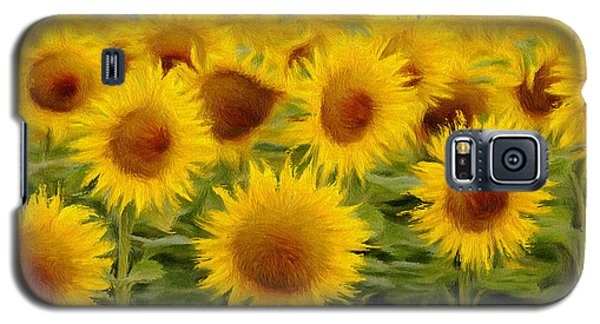 Sunflowers In The Field Galaxy S5 Case