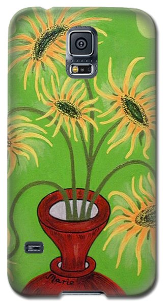 Sunflowers On Green Galaxy S5 Case