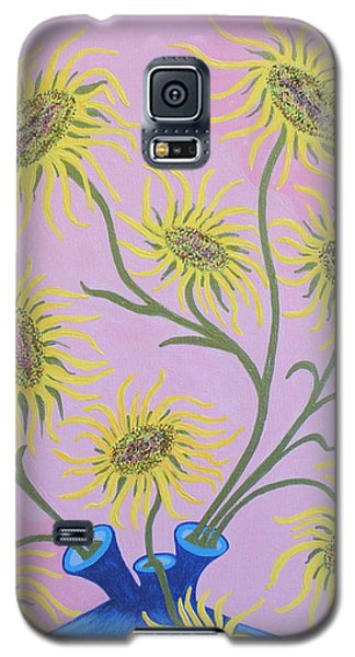 Sunflowers On Pink Galaxy S5 Case