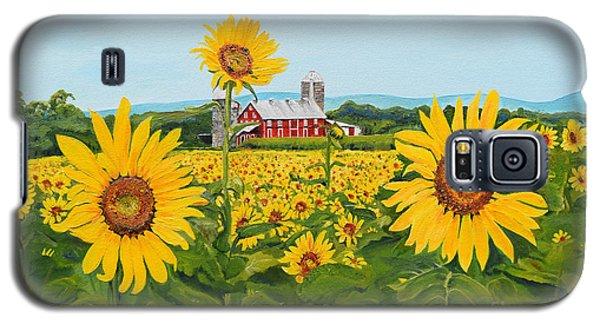 Sunflowers On Route 45 - Pennsylvania- Autumn Glow Galaxy S5 Case