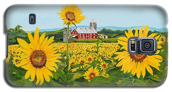 Sunflowers On Route 45 - Pennsylvania- Autumn Glow Galaxy S5 Case