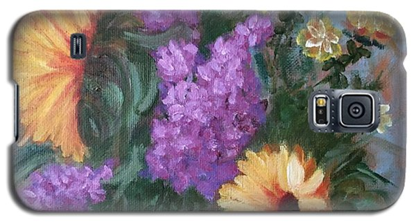 Galaxy S5 Case featuring the painting Sunflowers by Sharon Schultz