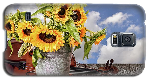 Sunflowers With Violin Galaxy S5 Case