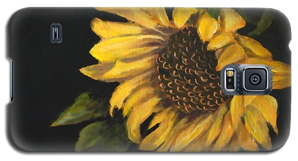 Galaxy S5 Case featuring the painting Sunflowervi by Sandra Nardone