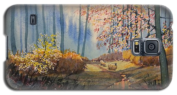 Sunlight And Sheep In Sledmere Woods Galaxy S5 Case