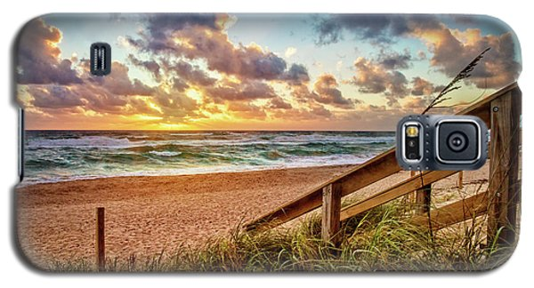 Galaxy S5 Case featuring the photograph Sunlight On The Sand by Debra and Dave Vanderlaan