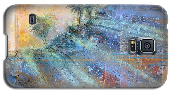Galaxy S5 Case featuring the painting Sunlight Streaks by Andrew King
