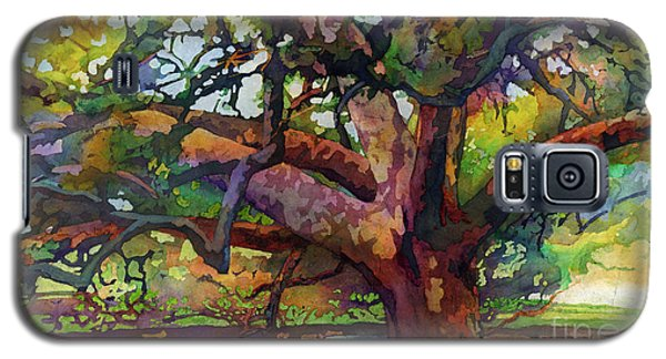 Galaxy S5 Case featuring the painting Sunlit Century Tree by Hailey E Herrera