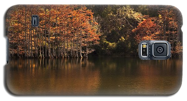 Galaxy S5 Case featuring the photograph Sunlit Cypress Trees On Beaver's Bend by Tamyra Ayles