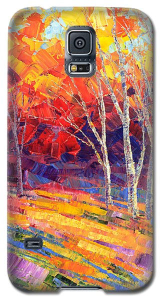 Galaxy S5 Case featuring the painting Sunlit Shadows by Tatiana Iliina