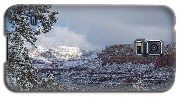 Sunlit Snowy Cliff Galaxy S5 Case