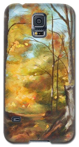 Sunlit Tree Trunk Galaxy S5 Case