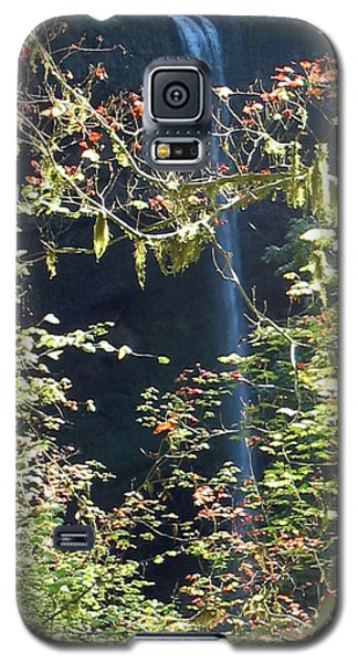 Galaxy S5 Case featuring the photograph Sunlite Silver Falls by Thomas J Herring