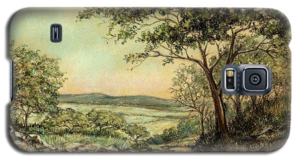 Galaxy S5 Case featuring the painting Sunny Bushveld by Heidi Kriel