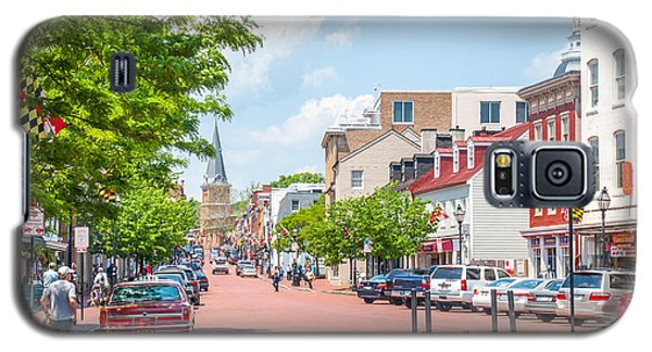 Galaxy S5 Case featuring the photograph Sunny Day On Main by Charles Kraus