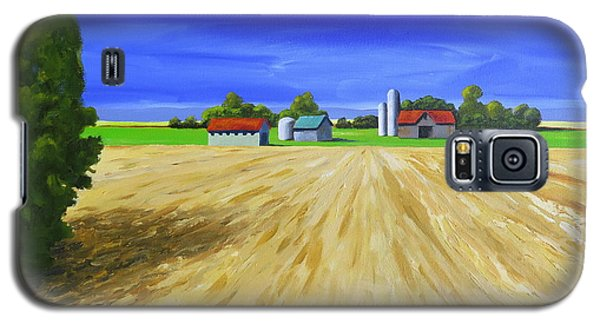 Galaxy S5 Case featuring the painting Sunny Fields by Jo Appleby