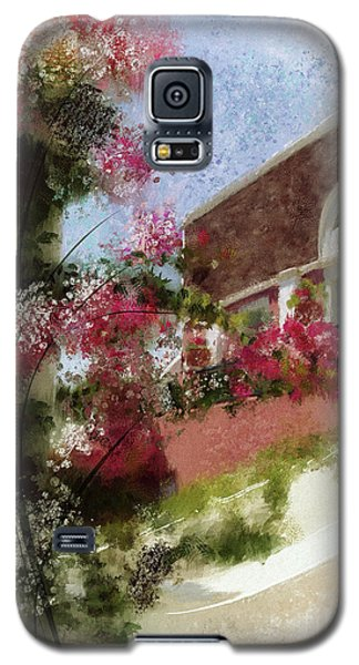 Galaxy S5 Case featuring the photograph Sunny Santorini by Lois Bryan