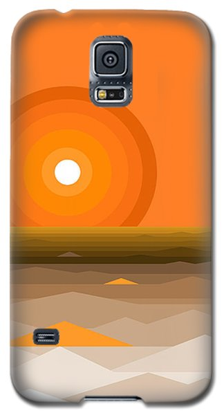 Sunrise Abstract In Orange Galaxy S5 Case