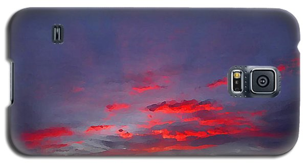 Sunrise Abstract, Red Oklahoma Morning Galaxy S5 Case