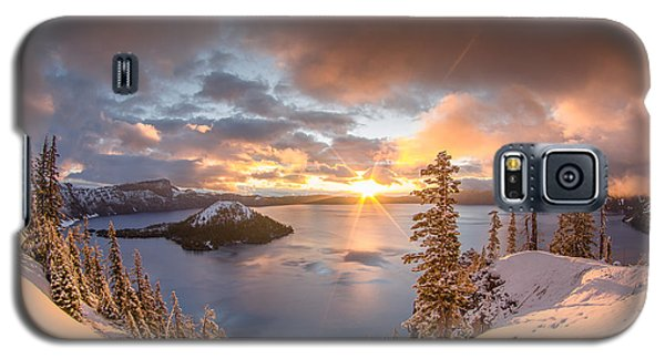 Sunrise After Summer Snowfall Galaxy S5 Case