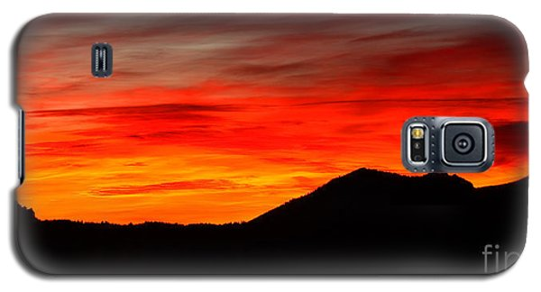 Galaxy S5 Case featuring the photograph Sunrise Against Mountain Skyline by Max Allen
