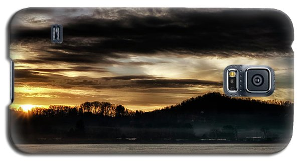 Galaxy S5 Case featuring the photograph Sunrise And Hay Bales by Thomas R Fletcher
