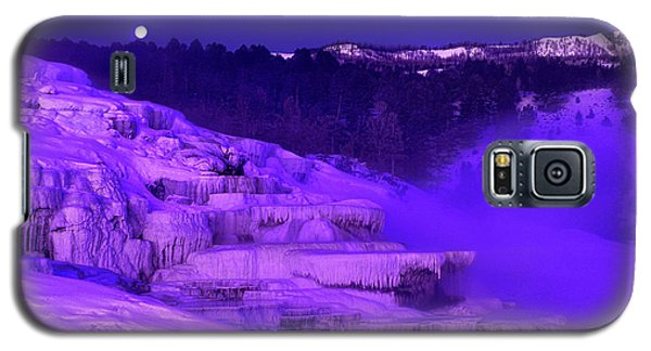 Sunrise And Moonset Over Minerva Springs Yellowstone National Park Galaxy S5 Case