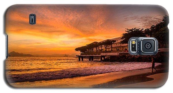 Sunrise At Copacabana Beach Rio De Janeiro Galaxy S5 Case