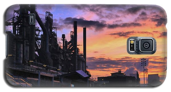 Galaxy S5 Case featuring the photograph Sunrise At Steelstacks by DJ Florek