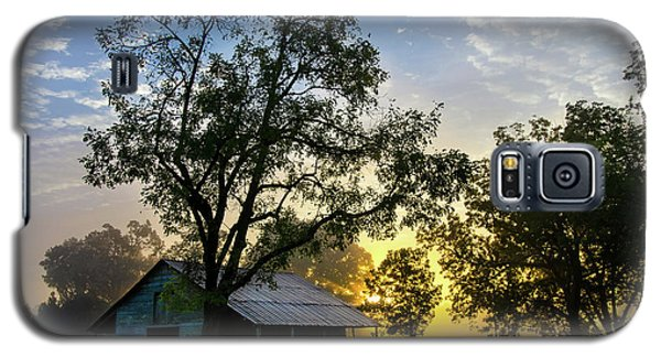 Galaxy S5 Case featuring the photograph Sunrise At The Farm by George Randy Bass