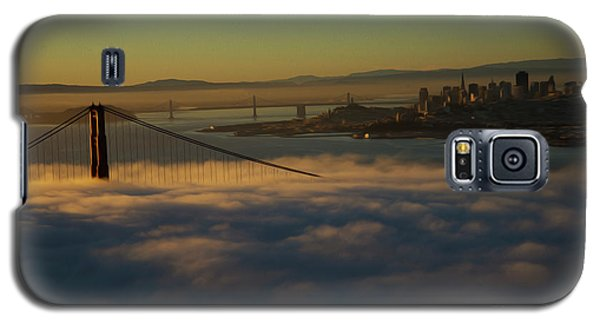 Galaxy S5 Case featuring the photograph Sunrise At The Golden Gate by David Bearden