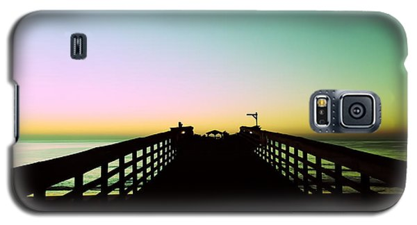 Sunrise At The Myrtle Beach State Park Pier In South Carolina Us Galaxy S5 Case by Vizual Studio