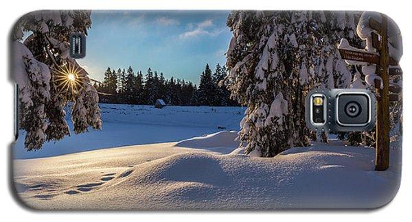 sunrise at the Oderteich, Harz Galaxy S5 Case