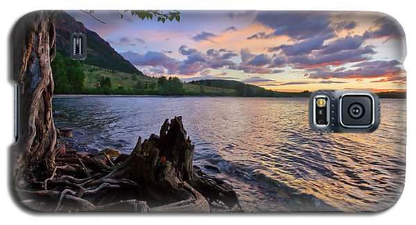Galaxy S5 Case featuring the photograph Sunrise At Waterton Lakes by Dan Jurak