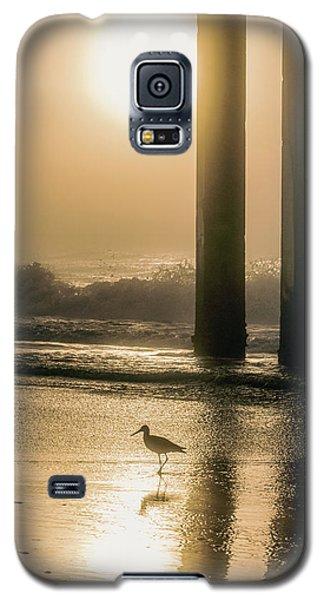 Galaxy S5 Case featuring the photograph Sunrise Bird At Beach  by John McGraw