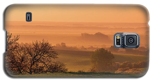 Galaxy S5 Case featuring the photograph Sunrise Foggy Valley by Jenny Rainbow
