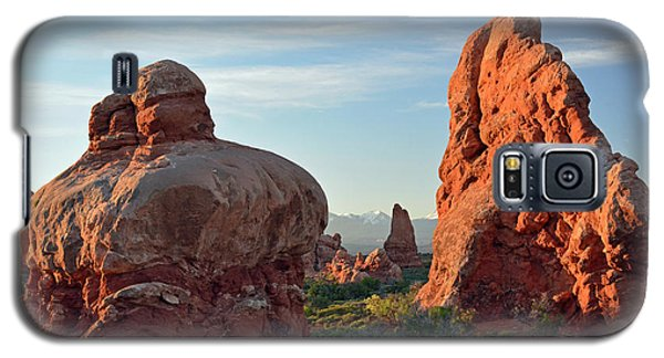 Galaxy S5 Case featuring the photograph Sunrise In Arches National Park by Bruce Gourley