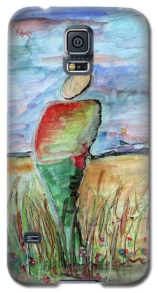 Sunrise In The Grasses Galaxy S5 Case