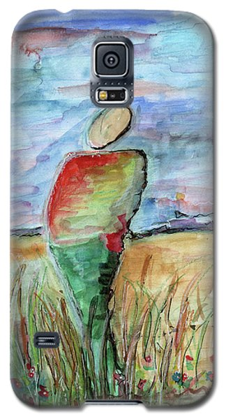 Sunrise In The Grasses Galaxy S5 Case