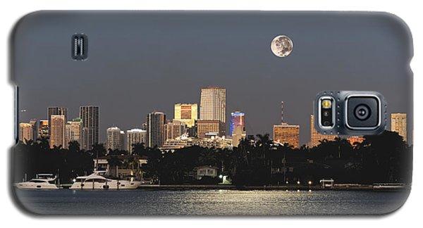 Moonrise Over Miami Galaxy S5 Case