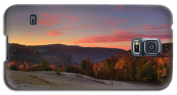 Galaxy S5 Case featuring the photograph Sunrise On Jenne Farm - Vermont Autumn by Joann Vitali