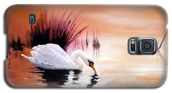 Sunrise On Swan Lake Galaxy S5 Case