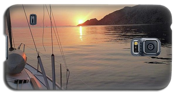 Galaxy S5 Case featuring the photograph Sunrise On The Aegean by Christin Brodie