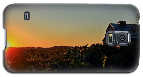 Galaxy S5 Case featuring the photograph Sunrise On The Farm by Chris Berry