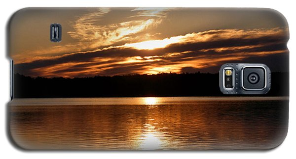 Sunrise On The Turtle Flambeau Flowage Galaxy S5 Case by Angie Rea